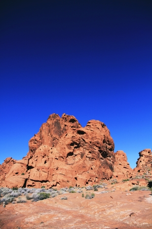 Red Rock Landscape in Valley of Fire State Park, Nevada, USA