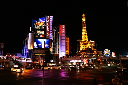 Las Vegas, USA-October 10, 2016: Ballys Las Vegas, formerly the MGM Grand Hotel and Casino is a hotel and casino on the Las Vegas Strip in Paradise, Nevada, USA Editorial