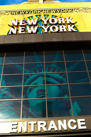 gamblers: LAS VEGAS - October 09: Entrance of New York-New York, located on the Las Vegas Strip is shown on October 09, 2016 in Las Vegas.