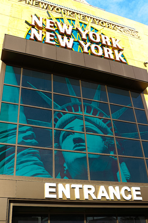 LAS VEGAS - October 09: Entrance of New York-New York, located on the Las Vegas Strip is shown on October 09, 2016 in Las Vegas.