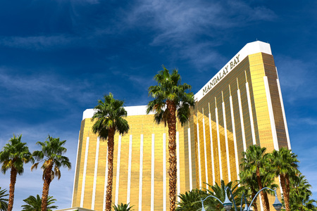 Las Vegas, USA-OCT 9, 2016: Mandalay Bay in Las Vegas. Mandalay Bay Resort and Casino in Las Vegas offers unmatched luxury, fine dining, renowned entertainment, personal service. Editoriali