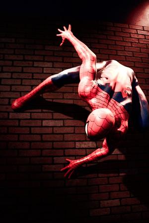 LAS VEGAS, EE.UU.-29 de octubre de 2016: Close up Spiderman, Madame Tussauds museo en Las Vegas.