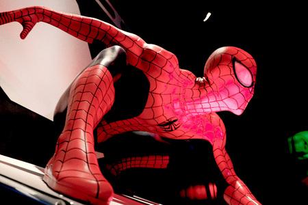 LAS VEGAS, USA-CT 10, 2017: Close-up Spiderman, Madame Tussauds-museum in Las Vegas.