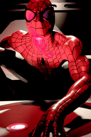 LAS VEGAS, USA-CT 10, 2017: Close up Spiderman, Madame Tussauds museum in Las Vegas. Editorial