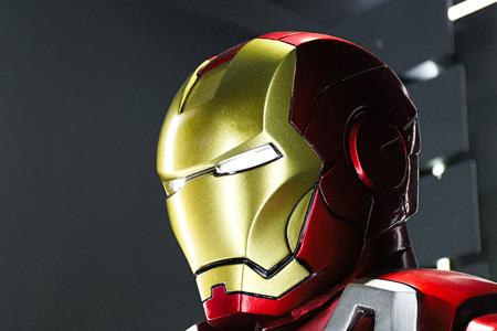 Las Vegas, USA-OCT 09, 2017: Iron man Type 7 model at the Avengers experience in Treasure Island Hotel and Casino on Las Vegas Strip.