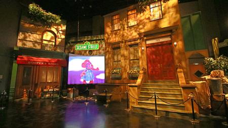 OSAKA, JAPAN-FEB 03, 2018: Photo of Sesame street studio set al Universal Studios Japan.