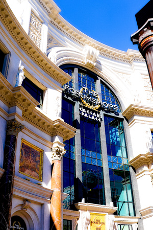 LAS VEGAS, USA-OCT 11: The Forum shops in Las Vegas on October 11 2017 The mall connected to the Caesars Palace hotel an d casino and it simulates ancient Roman streets