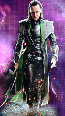 LAS VEGAS, NV, USA-OCT 09, 2017: Statue of Loki in Avengers Station complex at Las Vegas.