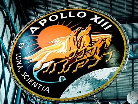 FLORIDA USA-Oct 29, 2016: Apollo emblem at the Kennedy Space Center Visitor Complex in Cape Canaveral, Florida on Oct 2 9, 2016 Editorial