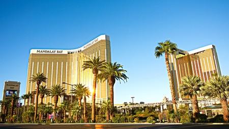 Las Vegas, USA-SEP 16, 2018: Mandalay Bay in Las Vegas. Mandalay Bay Resort and Casino in Las Vegas offers unmatched luxury, fine dining, renowned entertainment, personal service .