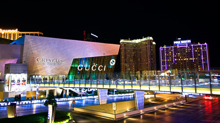 LAS VEGAS, NEVADA on Sep 16. 2018: Gucci and Dolce & Gabbana store exterior in City center at Las Vegas.