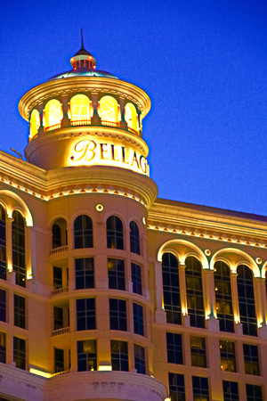 LAS VEGAS, NVUSA-Sep 18, 2018: Bellagio Hotel with Top Deck of Crown Exterior and casino in Las Vegas. Bellagio is a luxury hotel and casino located on the Las Vegas Strip. 報道画像