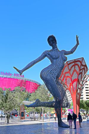 Las Vegas,NV/USA - Sep 15,2018 : The Excalibur Hotel and Casino in Las Vegas. The Hotel was named after King Arthur's sword and opened in 1990.