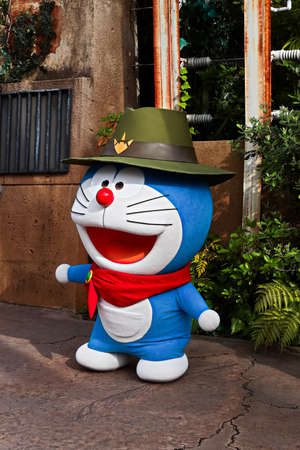Osaka, Japan – June 17, 2020 : Doraemon stat is a cartoon character from Doraemon to Standmon to Universal Studios Japan.Universal Studios Japan reepening after COVID-19 quarantine