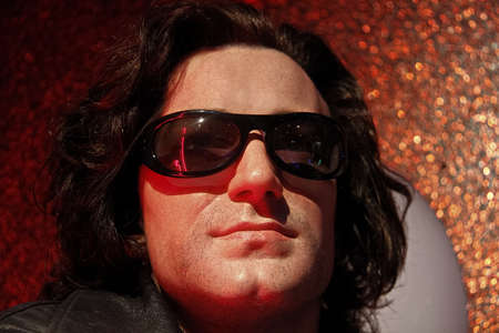 LAS VEGAS, NV/USA - Nov 05, 2011: A waxwork of musician, soloist of the group U2 Bono on display at Madame Tussauds canvas museum in Las Vegas Nevada. Editoriali