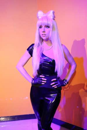 LAS VEGAS, NV/USA - OCT 11, 2017: A waxwork of Lady Gaga on display at Madame Tussaudas wax museum in Las Vegas Nevada.