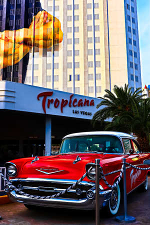 Las Vegas, NV/USA - Oct 06,2016 : View of the Tropicana Hotel and Casino and Resorts in Las Vegas. The Tropicana opened in 1957 and it is the one of the oldest hotels on the Las Vegas Strip. Editoriali