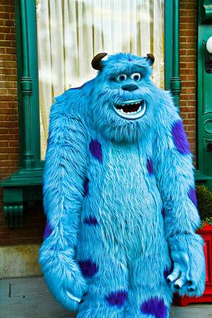 Anaheim,CA/USA - Nov 27, 2010 : A photo of James P. Sullivan, a monster character from Monster From Monster Inc. at Disneyland in Anaheim.Disney Pixar animation.