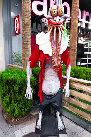 statue of Halloween monster. Halloween. Horror nights.Scary Horror Zombie