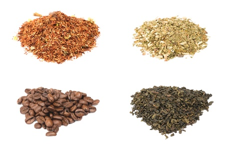mate drink: Traditional beverages of different cultures: yerba mate, coffee, tea and rooibos