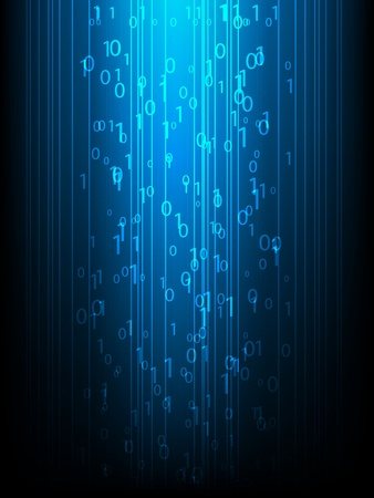 Abstract information background with binary code Illustration