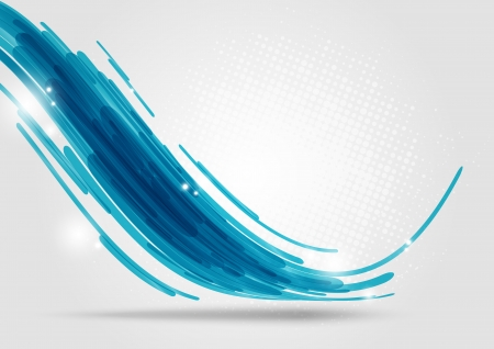 Blue abstract wave background with light elements Stock Vector - 14728874