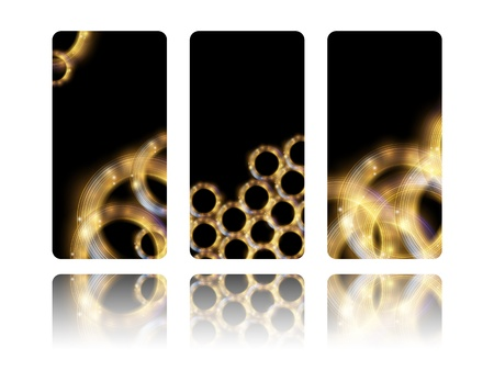 Abstract luxury banners with golden rings Vector