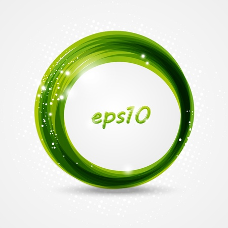 green swirl: Abstract background with place for text