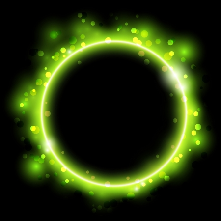 Abstract background with green ring Vector