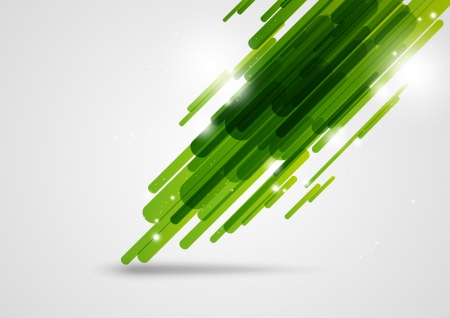 Green abstract lines background with light elements Stock Vector - 14729061