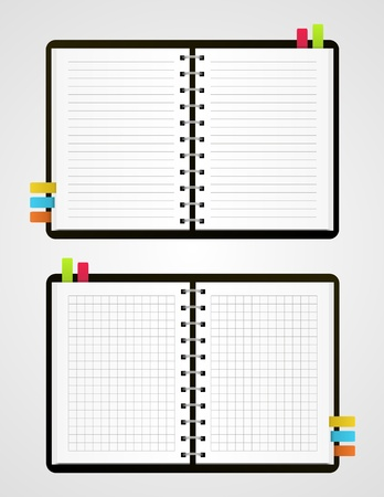 Two  notebooks Vector