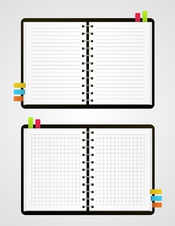 Two  notebooks Illustration