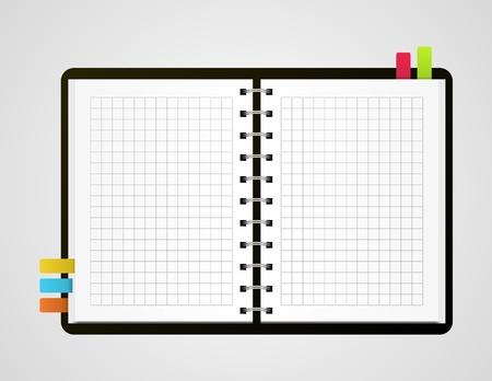 illustration of open notebook Stock Vector - 14729306