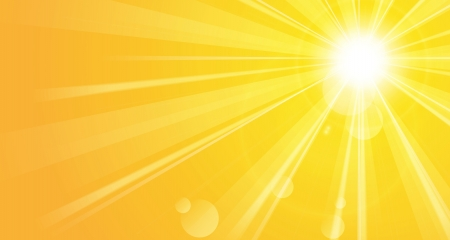 sun rays: Bright background with sunshine