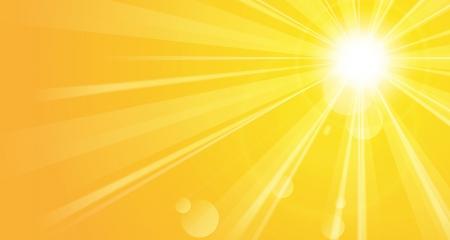 Heldere achtergrond met zon