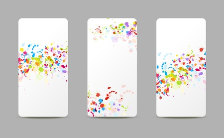 Set of art paint banners Vector