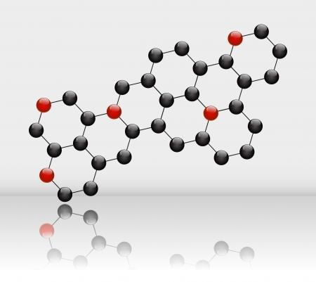 Abstract molecular background Stock Vector - 14812134