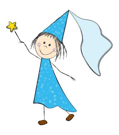 fairy cartoon: Cute Fairy ni�a