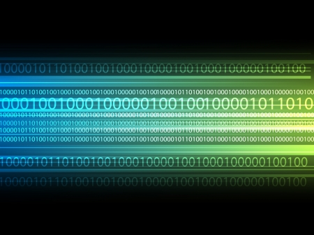 binary matrix: Digital background