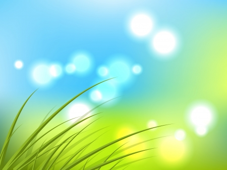 desktop wallpaper: Abstract spring background with grass Illustration