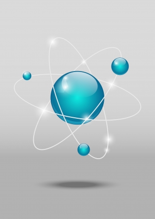 atomic energy: Icono at�mico brillante Vectores
