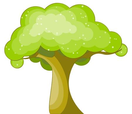 clip art draw: illustration of green cartoon tree Illustration