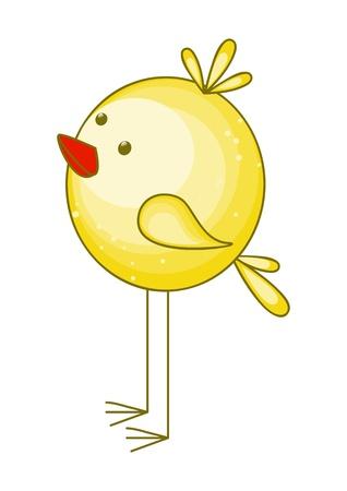 aves caricatura: ilustración de pollo lindo de la historieta