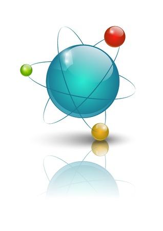 Vector illustration of glossy atomic model Stock Vector - 14941803