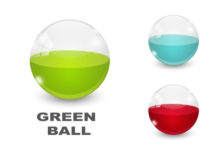 Glass balls icons Stock Vector - 14941801