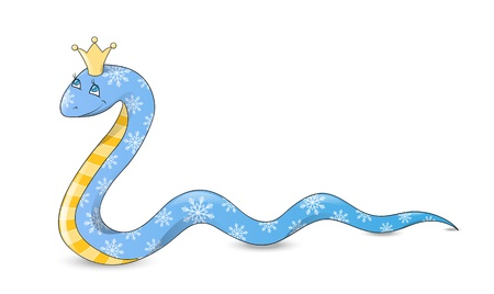 year of snake: Cute cartoon snake - symbol of Chinese New Year