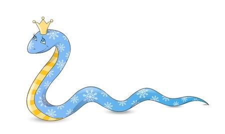Serpiente de dibujos animados lindo - s�mbolo del A�o Nuevo chino Foto de archivo - 14941799