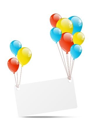globos de cumpleaños: Feliz cumpleaños fondo con la bandera y el balón Vectores