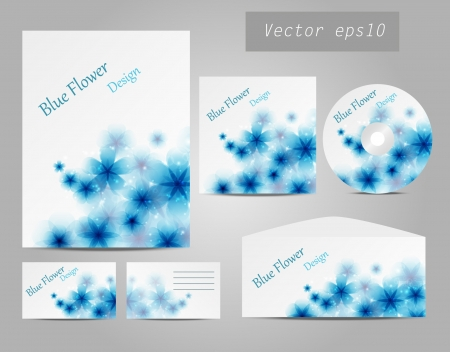 Design of corporate identity kit Vector
