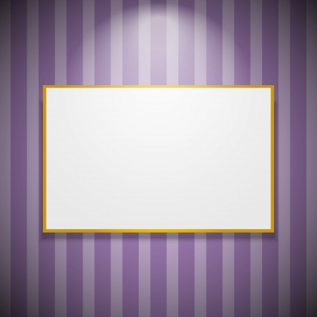 Frame on the wall with light Stock Vector - 15050607
